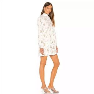 Petit Fours Long Sleeve Floral Mini Dress Sz XL
